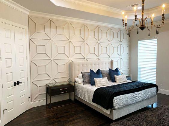 Yatak odası duvar çıta