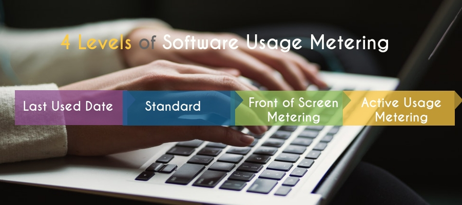 Four levels of software usage metering