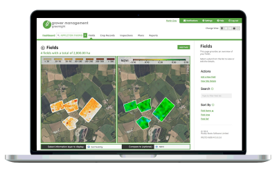Grower Management Mapping Screens