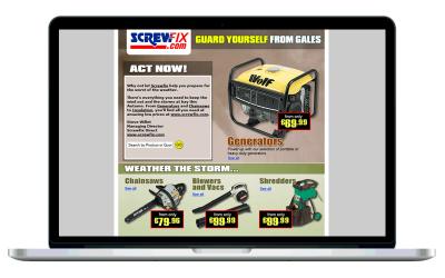 Screwfix HTML emails