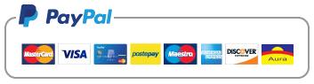 Accettiamo PayPal e le maggiori carte di pagamento