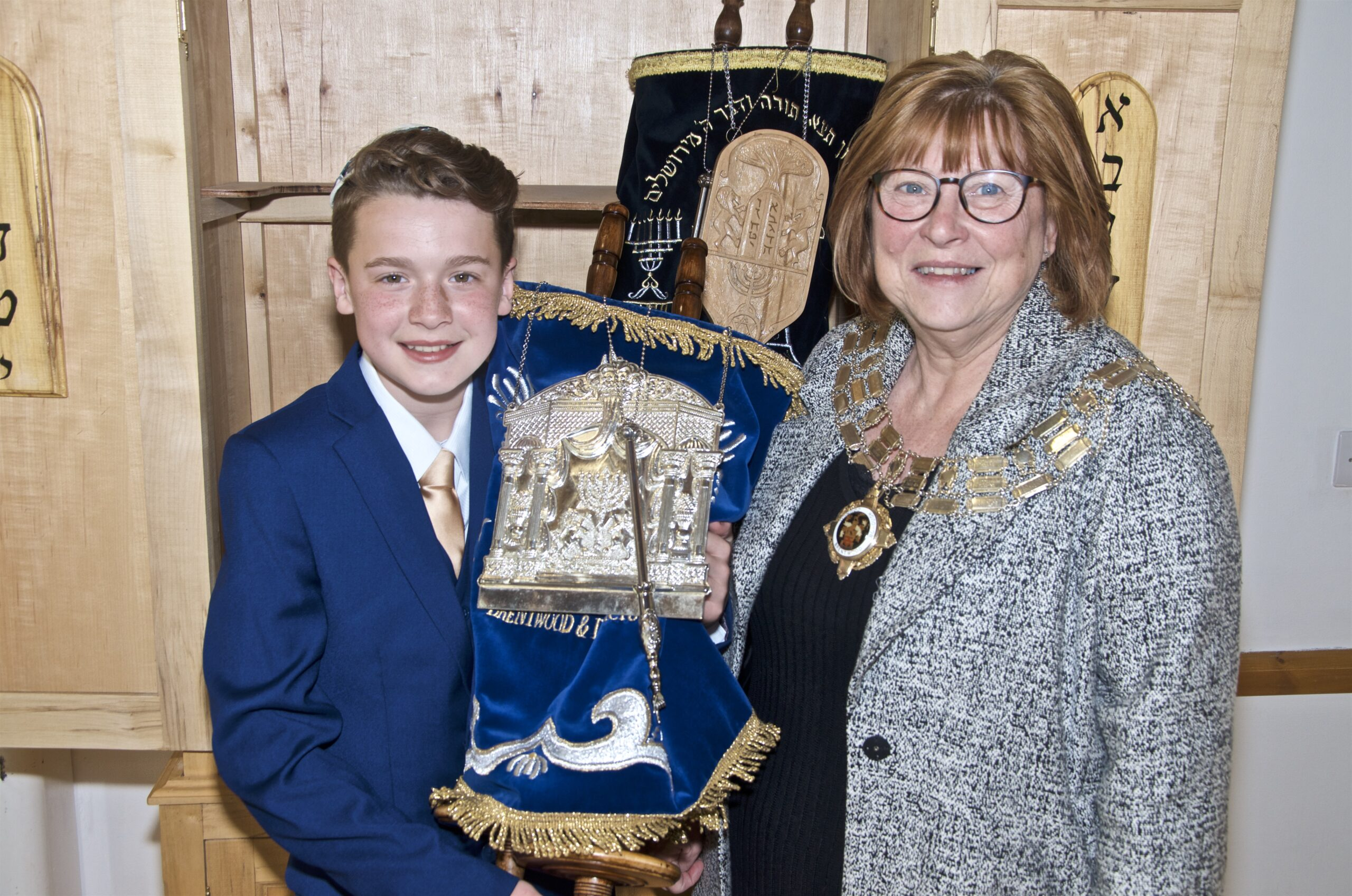 Barmitvah Jake with Mayor of Brentwood