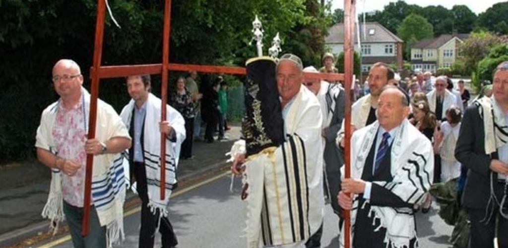 Parading our new Sefer Torah