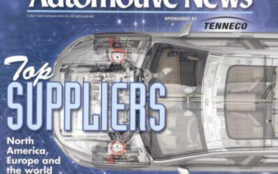 "Automotive News Recognizes Bridgewater Interiors As ""Top Supplier"" In North America"