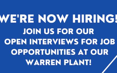 We're Hiring! We're Now Hosting Open Interviews For Our Bridgewater Interiors Warren, Michigan Plant