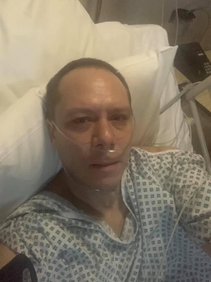 As soon as I was back to the room after penile cancer surgery.  I felt pretty rough!  St Anthony's Hospital, Surrey, England.