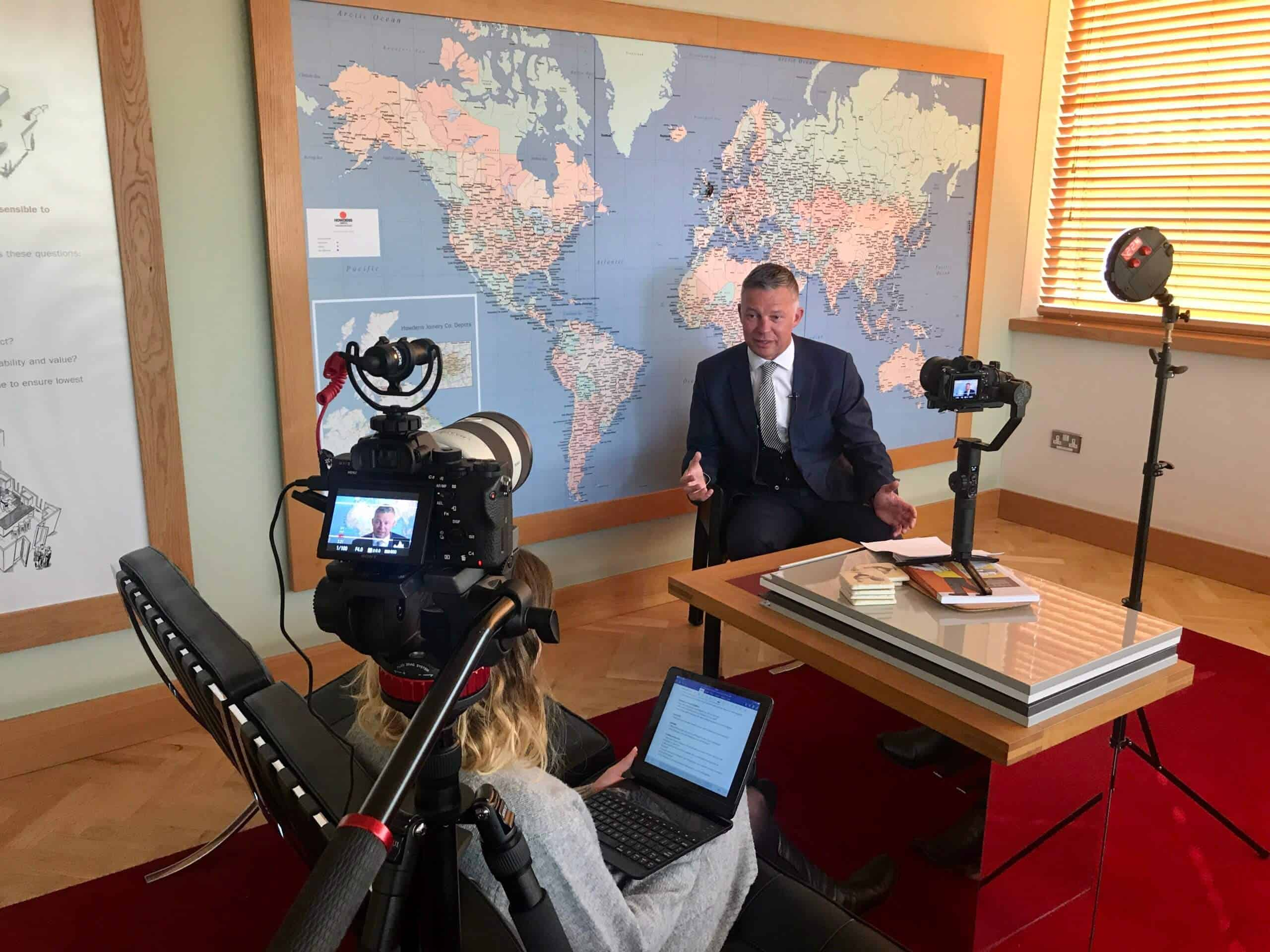 Howdens MD Interview behind the scenes photo of the managing director