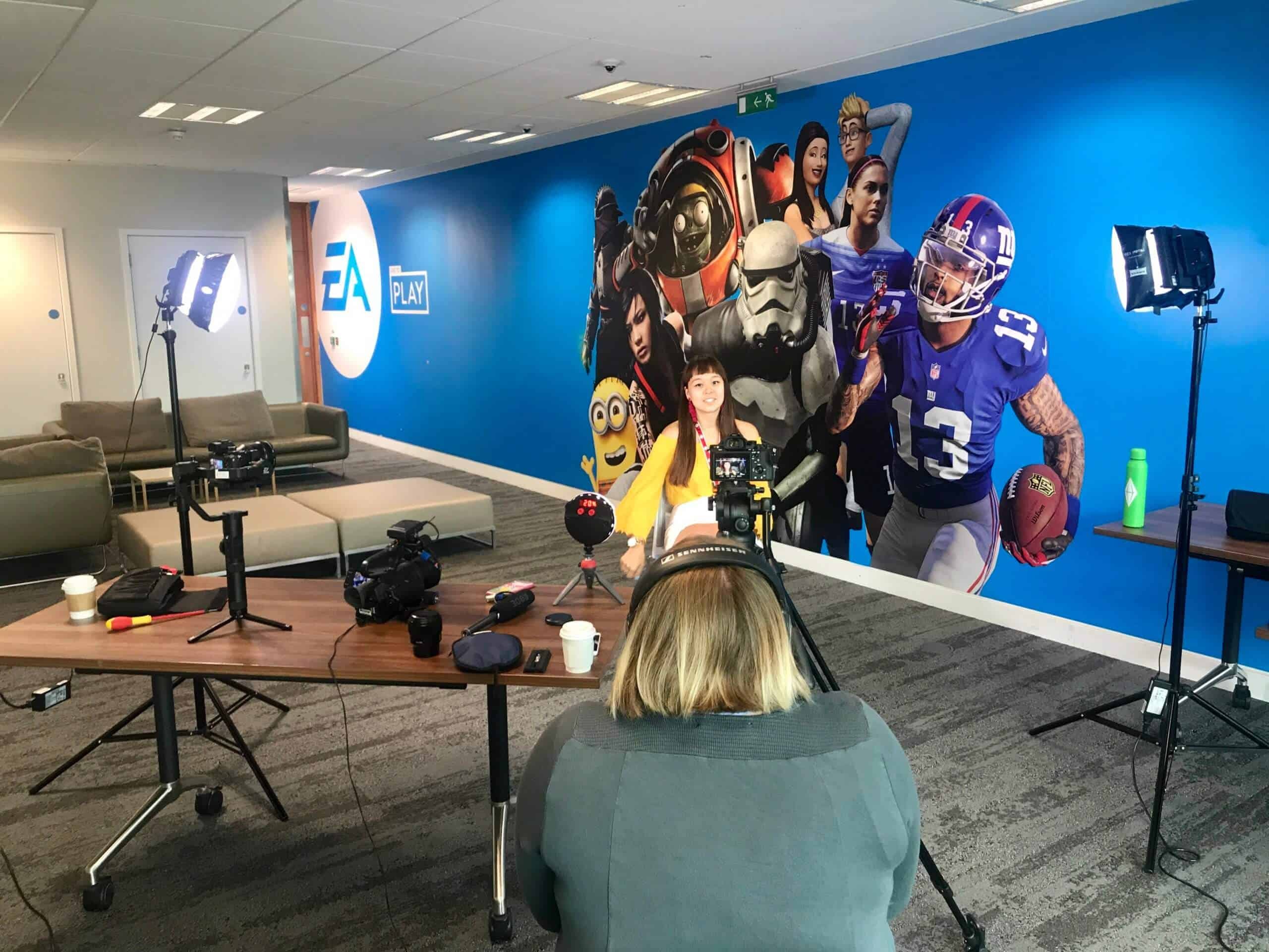 EA Games Interview behind the scenes photo