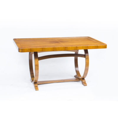 SOLD – Antique Art Deco Burr Walnut Desk Writing Table c.1930