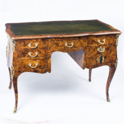 Antique French Pollard Oak Writing Table Desk c.1850