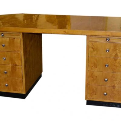 Art Deco Desk in Birdseye Maple