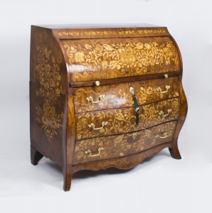 Antique Dutch Marquetry Cylinder Bureau c.1780 – Now Sold
