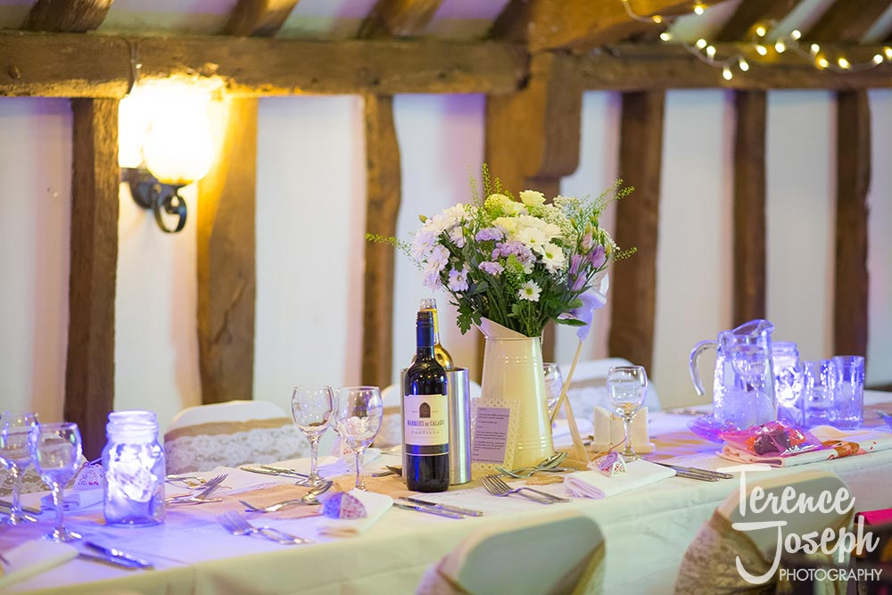 The Plough at Leigh Wedding Breakfast photos by Terence Joseph Photography