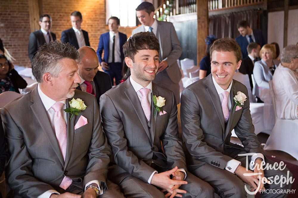 Groom nervous before wedding ceremony