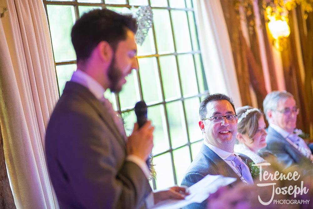The Plough at Leigh wedding speeches photos by Terence Joseph Photography