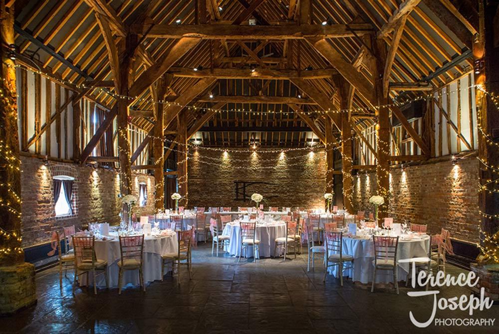 Barn ready for the Wedding Breakfast