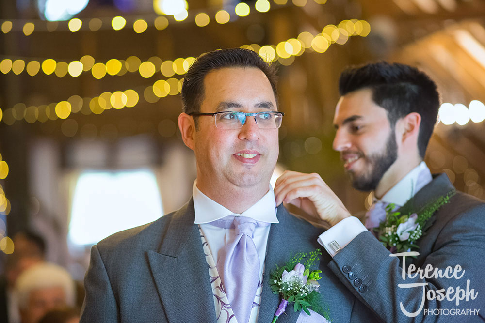 Groom prepaation photos by Terence Joseph Photography