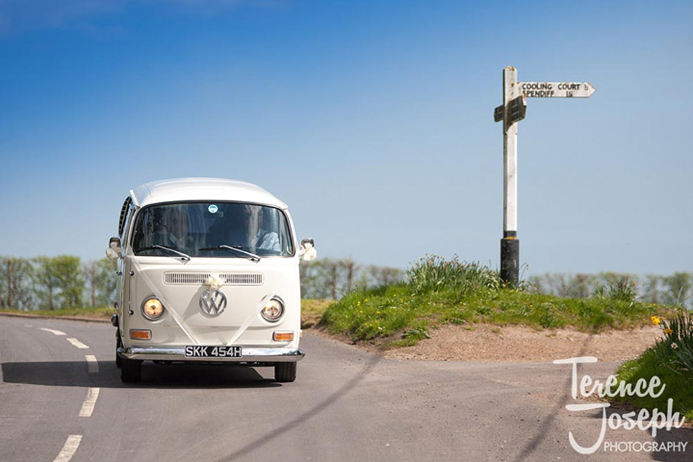VW Wedding van, here comes the bride