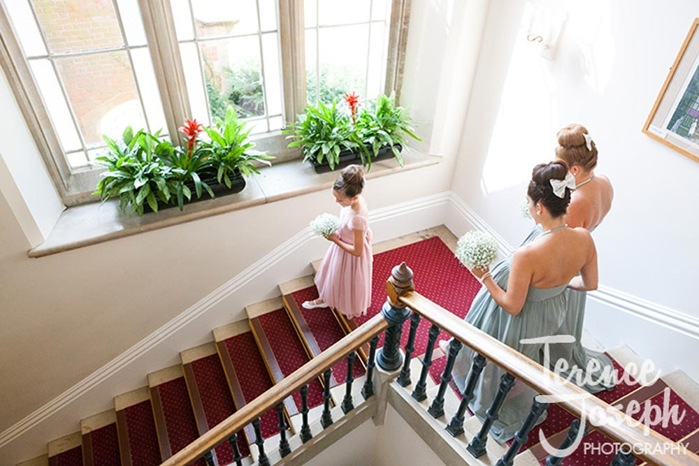 Main staircase at Oakwood House in Maidstone