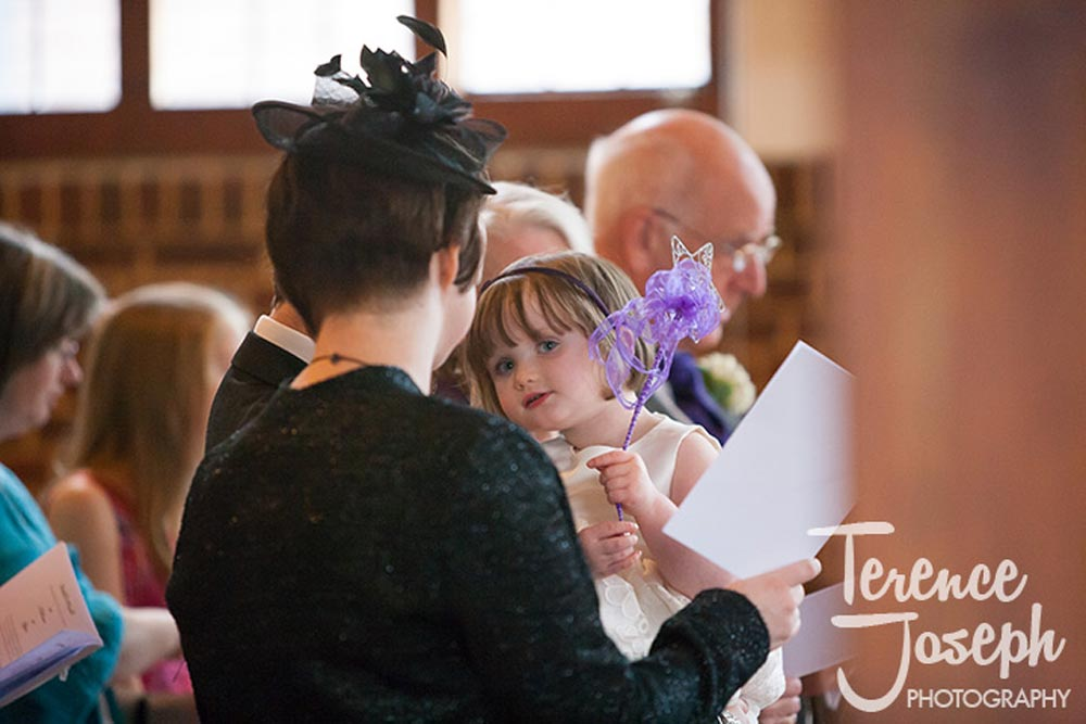 Cute kids at wedding with fairy wand