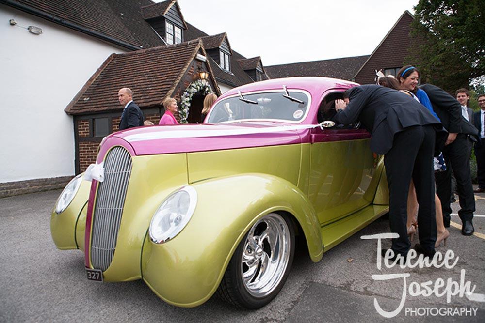 Awesome hotrod wedding car