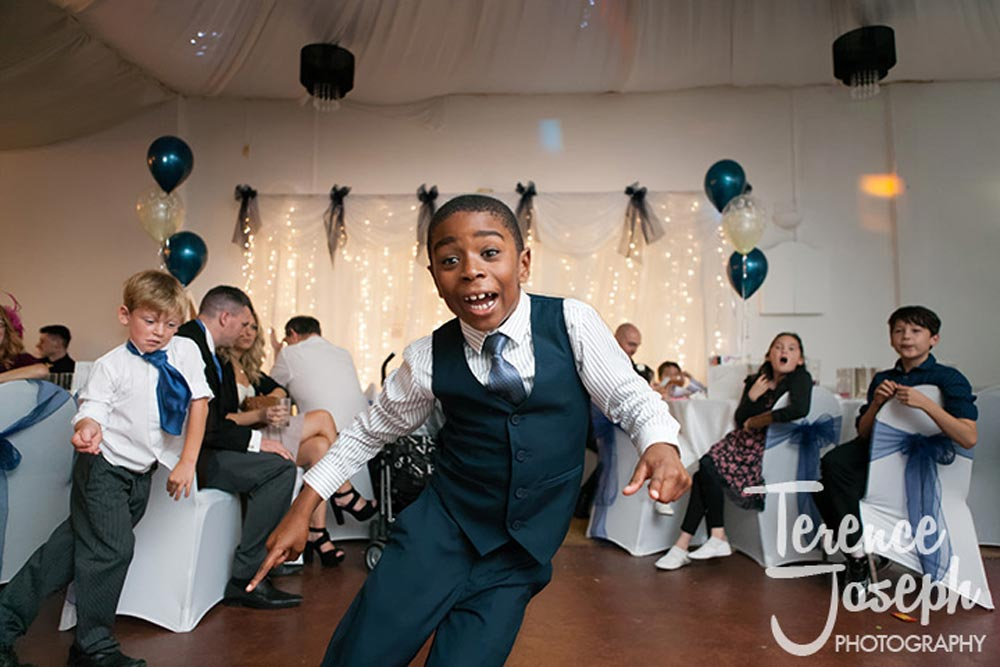 Kids rocking the dance floor at the wedding