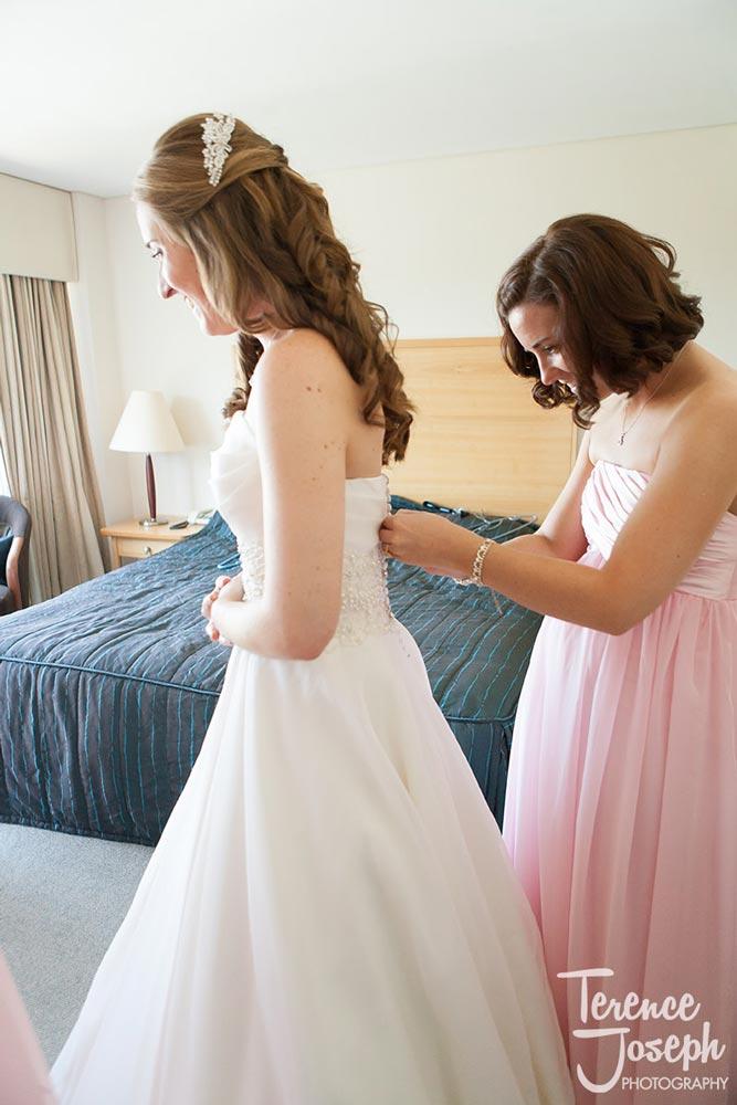 Beautiful bride in her wedding dress in Reading