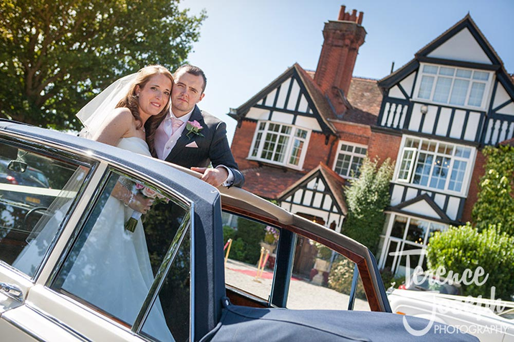 Couple photos outdoors at Trunkwell House Wedding Reading