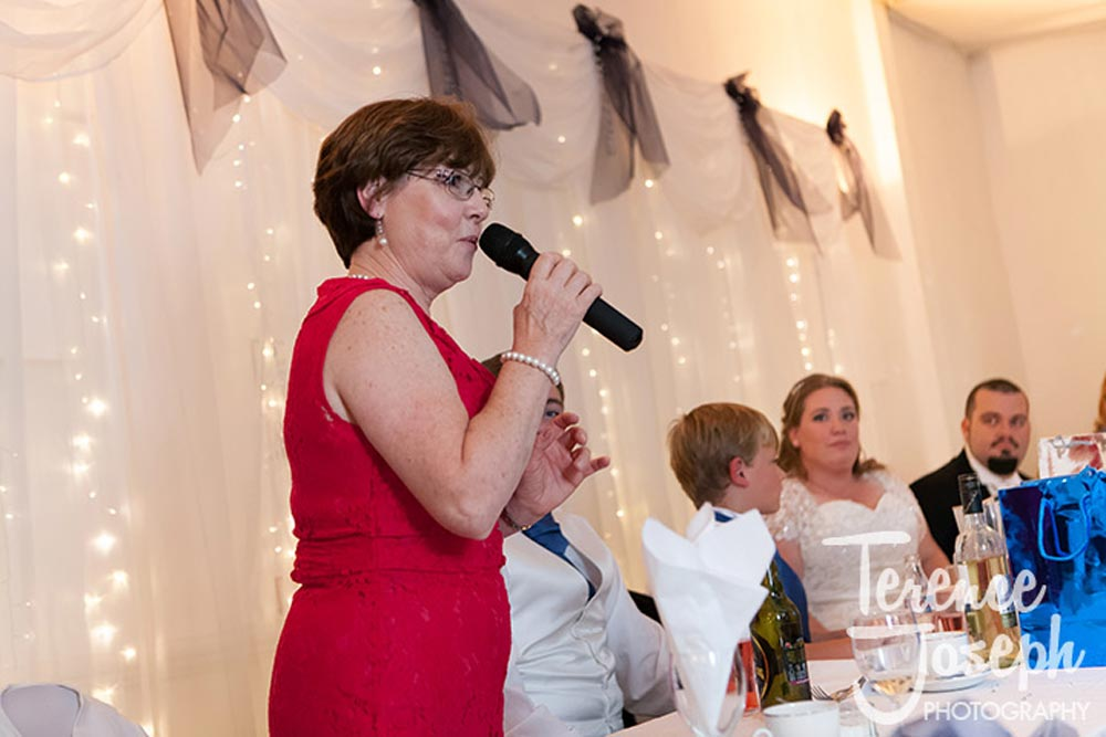 Mother of the bride says a few words