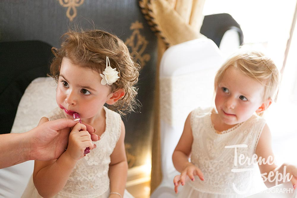 How much lipstick is too much for kids at Wedding Breakfast The Cavendish Eastcote
