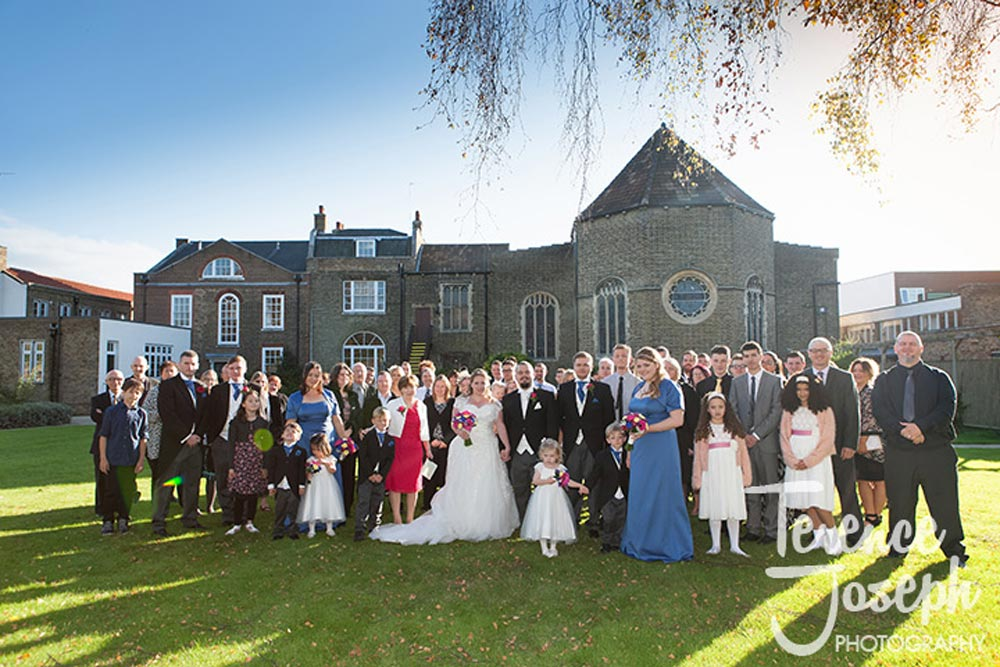Outdoor Wedding group photo