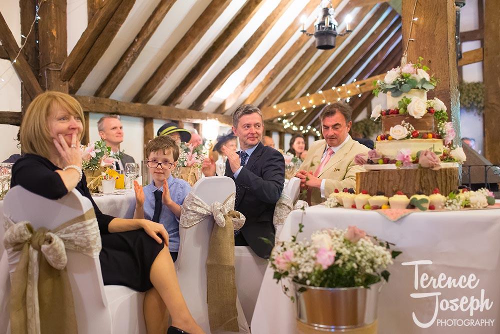 Wedding Breakfast at The Plough at Leigh Barn Wedding