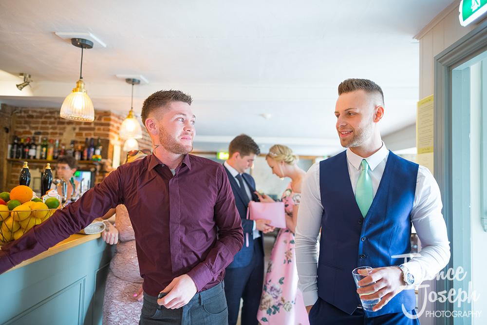 Bull pub wedding guests