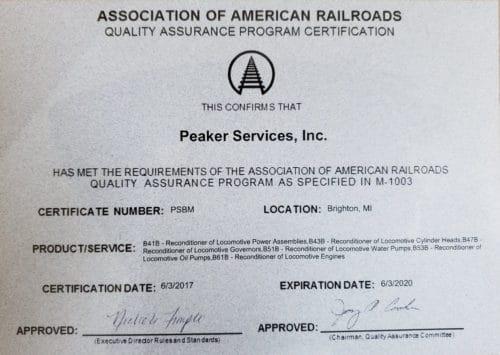 AAR Certification
