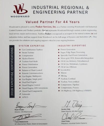 Woodward Business Partner Certification