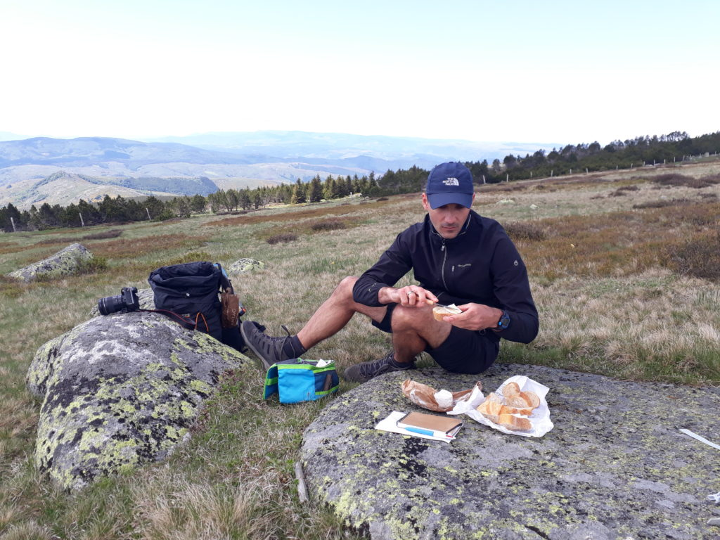 picnic near the summit of Mount Lozére