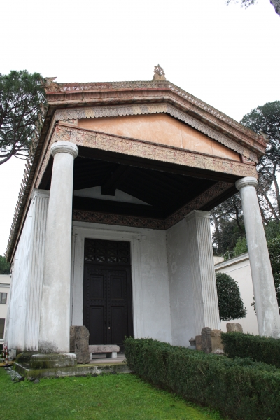 Recreation of an Etruscan temple in Rome,