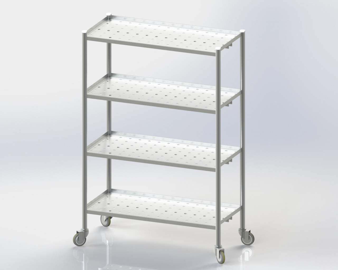 4 Perforated Storage Rack/Mobile