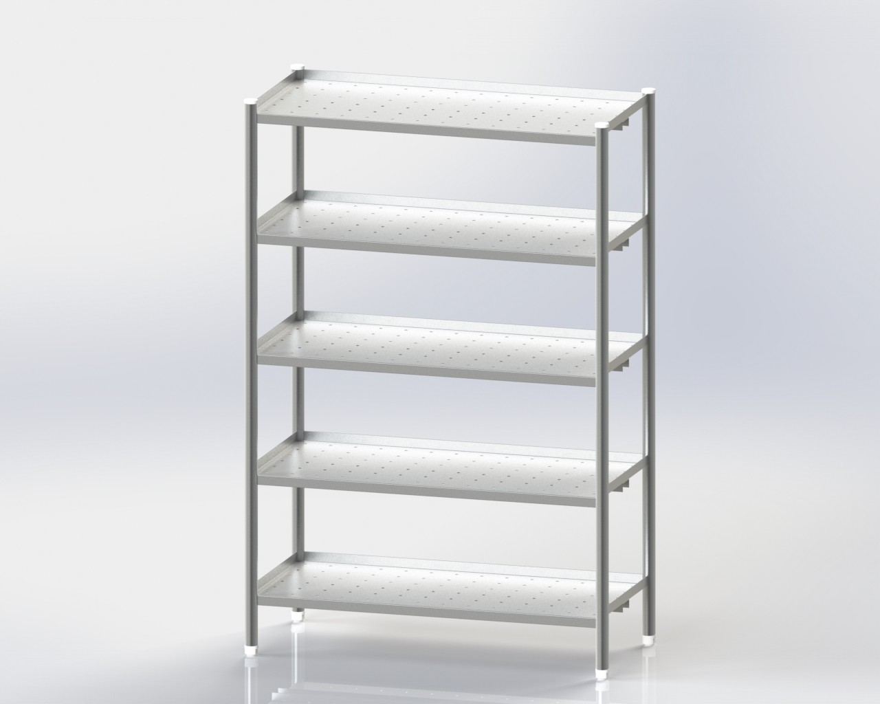 5 Shelves Storage Rack/Perforated
