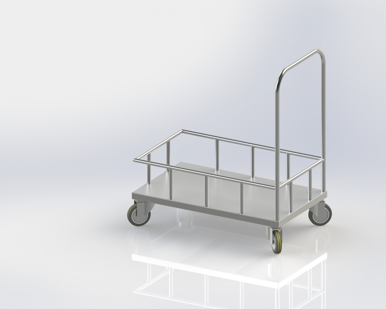 commercial Luggage Trolley for kitchen's store room