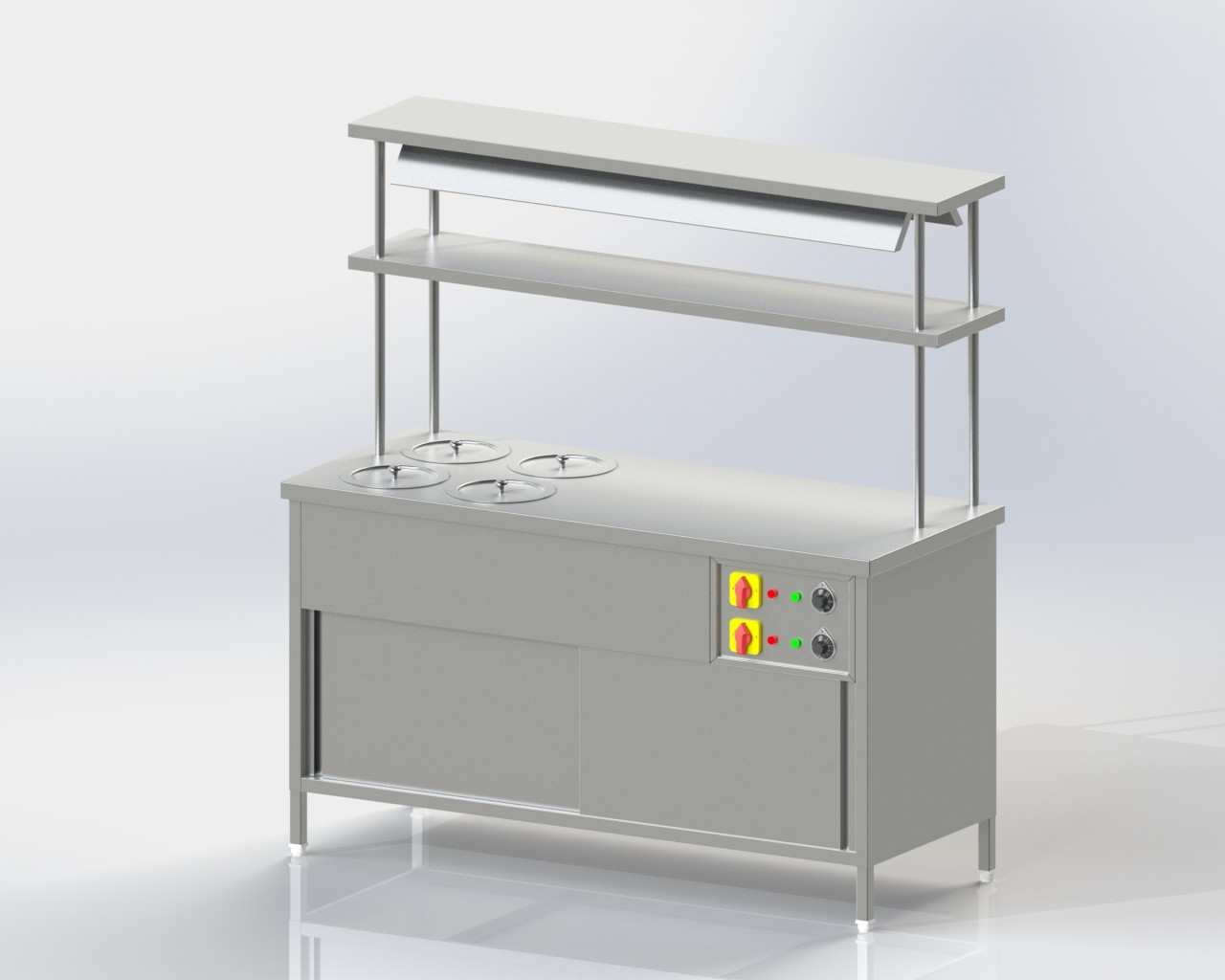 Pick up Counter + hot case + Bain Marie