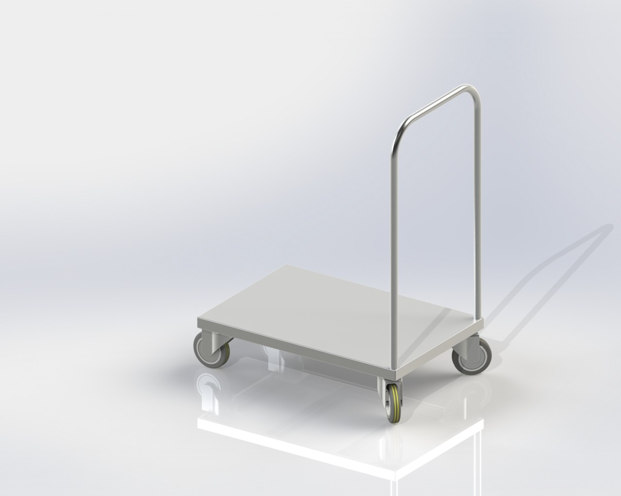 Platform Trolley for kitchen good transporting