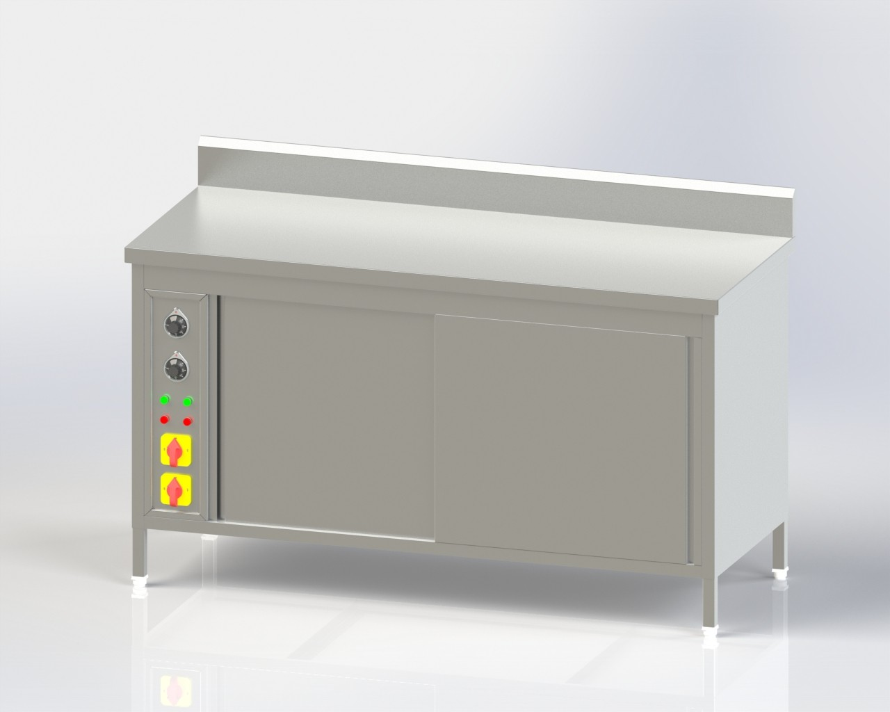 Pick Up Counter with Hot Case