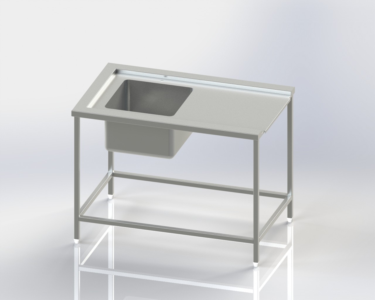Single Sink-DIsh washer Inlet Table
