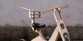 Tricycle custom made out of wood for a child