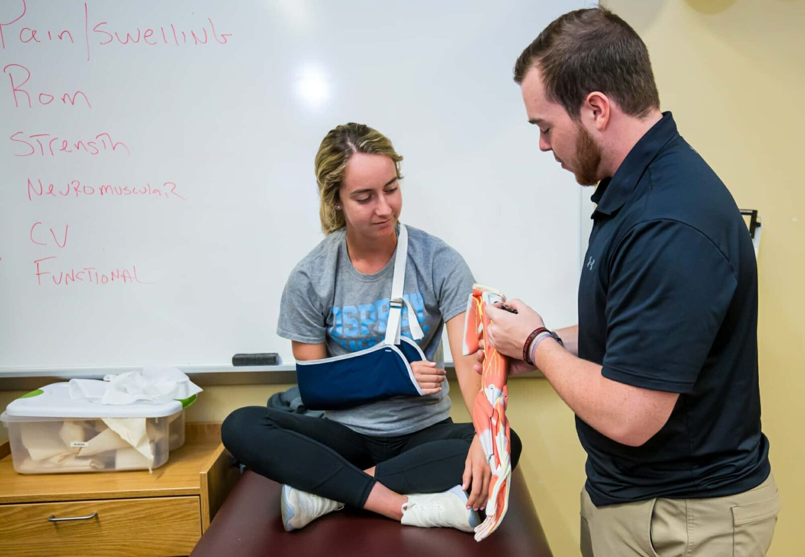 Athletic Training Muscle Demonstration