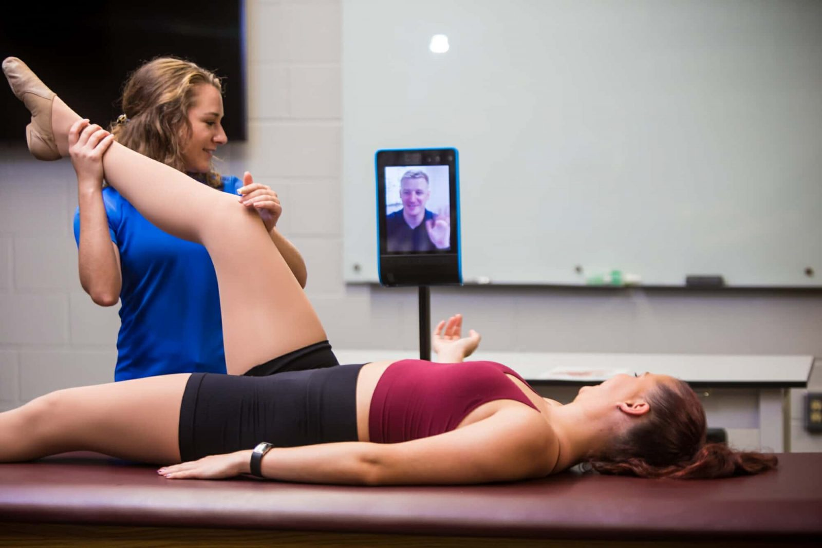 Athletic Training With Remote Viewer