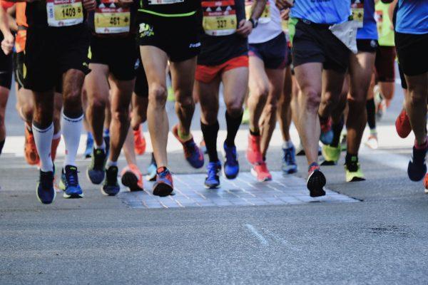 Marathon Runners on Street