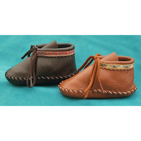 Trimmed-Baby-Toddler-Booties-Item-100B-150B