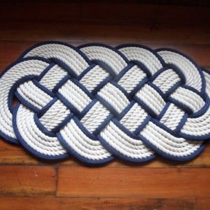 RRCN3214-Off-White-Cotton-Rope-Rug-Navy-Accent-32x14